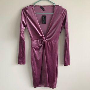 NWT Purple Velvet Dress